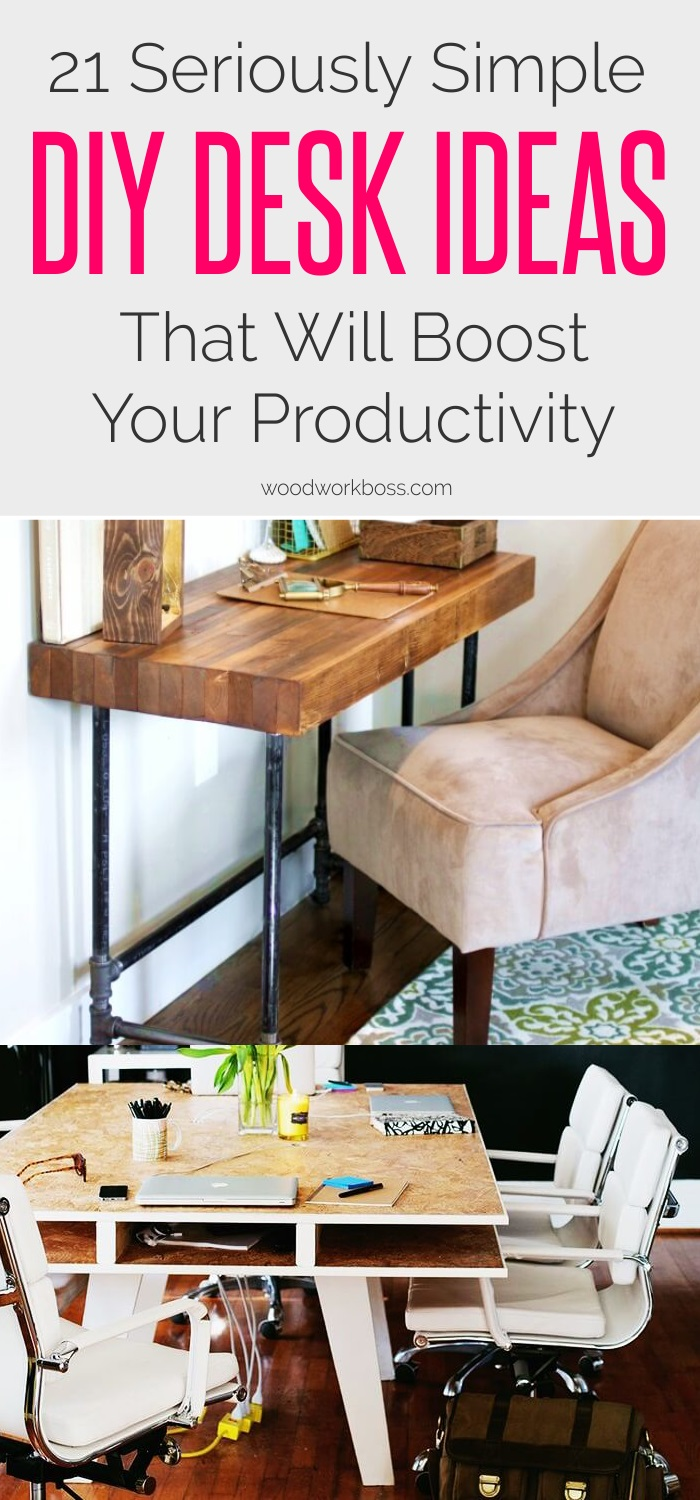 21 Simple DIY Desk Ideas That Will Boost Your Productivity