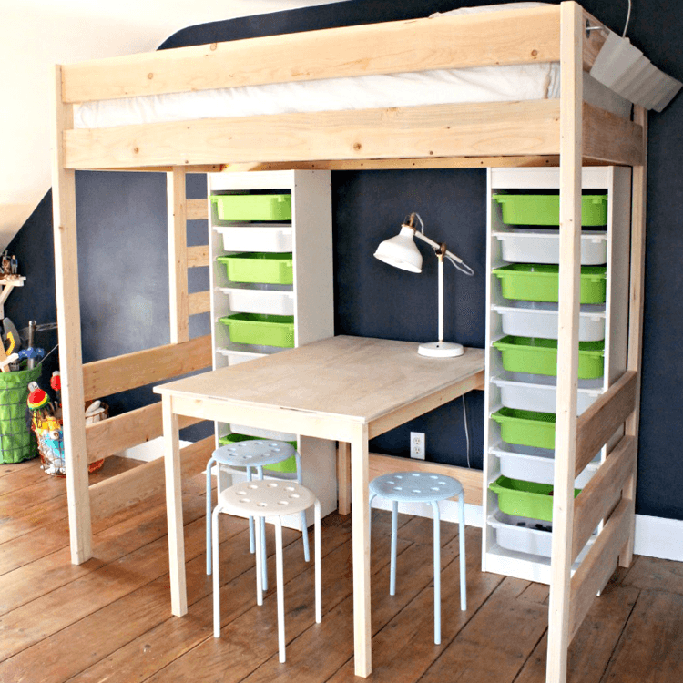 #3 U2013 Loft Bed With Play Table