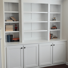 built in bookcase plans