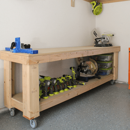 The Design Is More Into Width Than Height So It Wonu0027t Stand On Your Way  Even If The Garage Workshop Canu0027t Flaunt With Space. The Workbench Is  Portable ...
