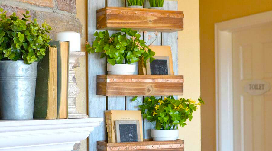 DIY Wooden Wall Planter. Project credit: littlevintagenest.com