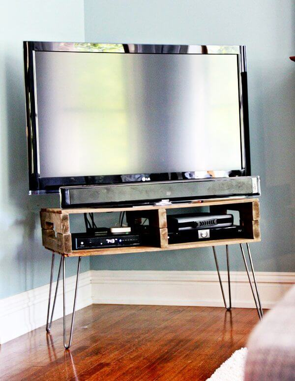 Tv Stand Designs For Corners : 21 affordable diy tv stand ideas you can build in a weekend