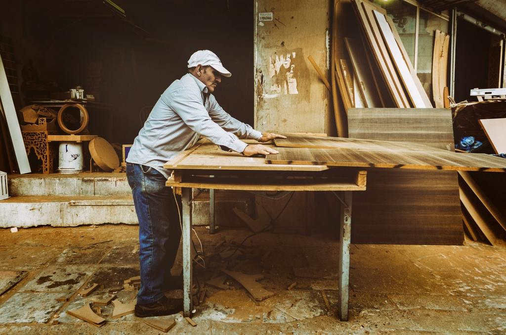 man working on woodwork