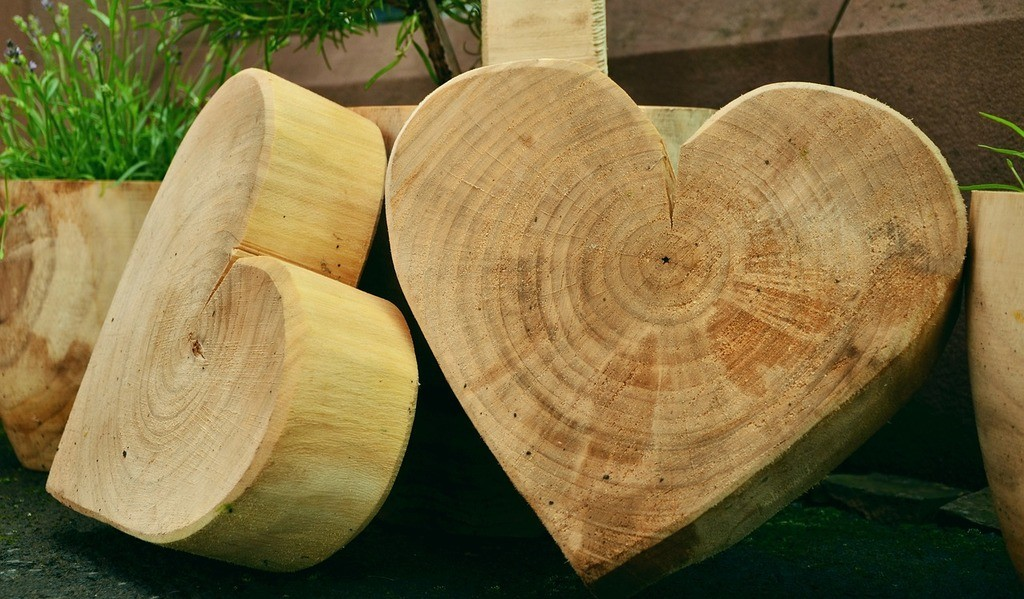 heart shaped woodwork