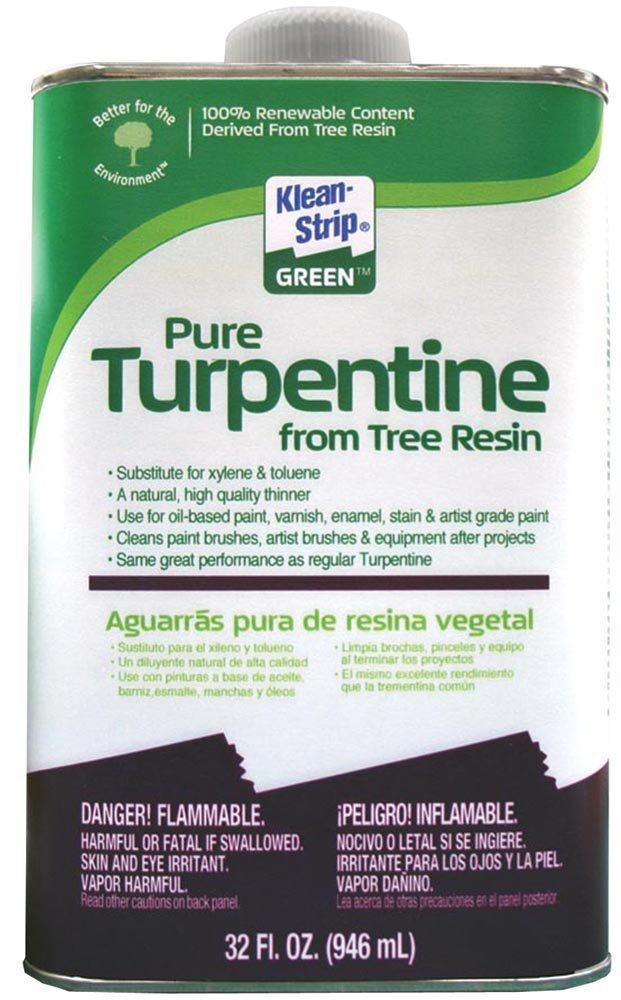Klean-Strip Green QKGT75004 Turpentine, 1-Quart